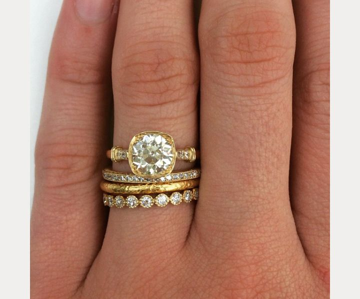stacked wedding ring styles thatll leave you breathless - Stackable Wedding Rings