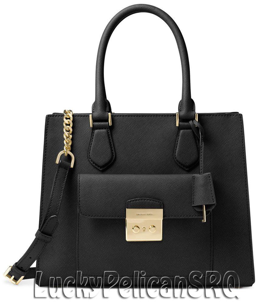 bc20194bb050 Michael Kors Bridgette Medium East West Tote Satchel Bag Handbag Black NWT # MichaelKors #Satchel