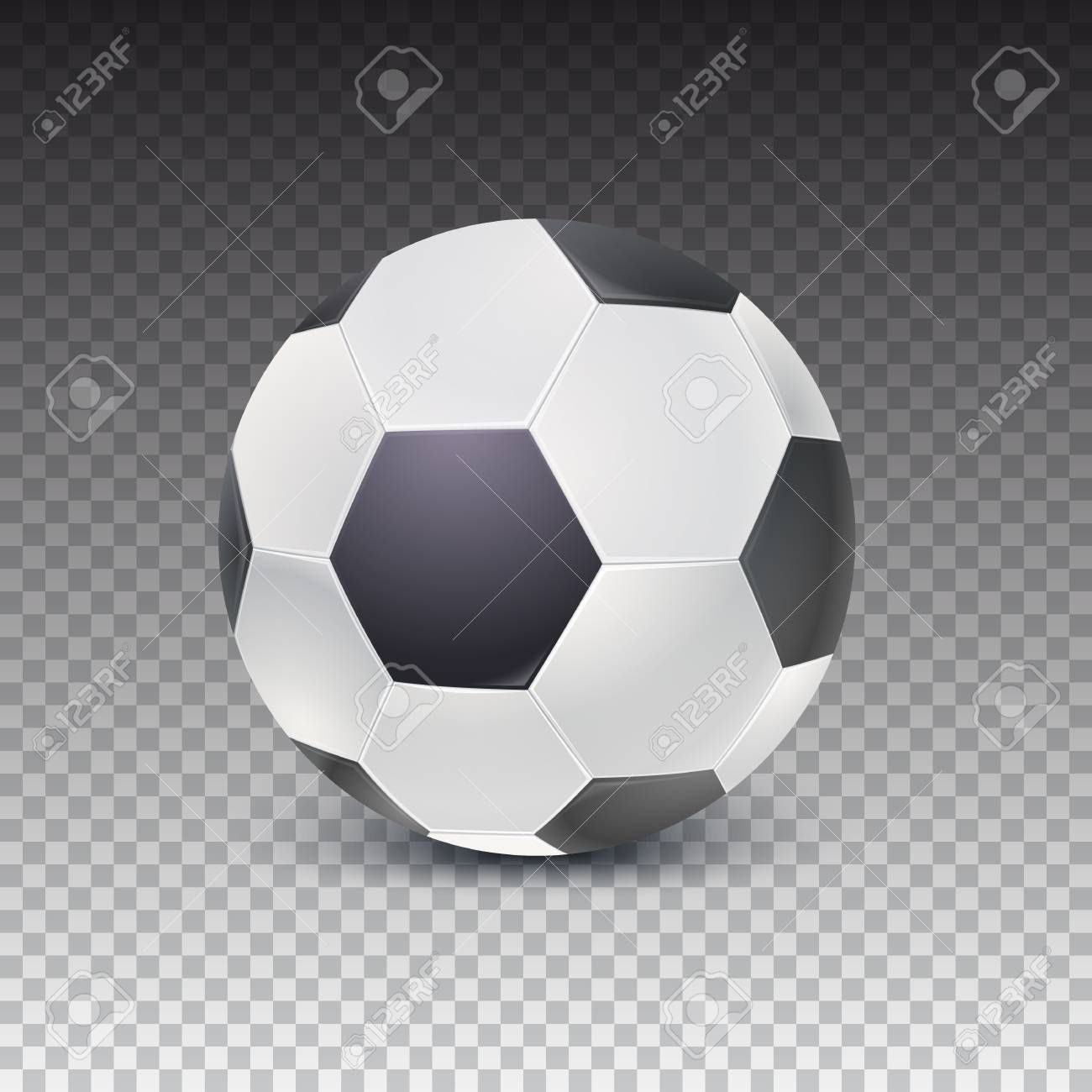 Realistic Soccer Ball With Shadow Isolated On Transparent Background Detailed Icon Of Ball For Game In Classic Football 3d Illustra In 2020 Soccer Ball Soccer Shadow