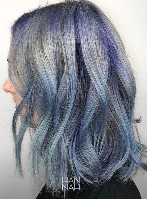 Balyaj Ve Ombre 35 Pastel Ve Neon Saç Renkleri Saç Modelleri