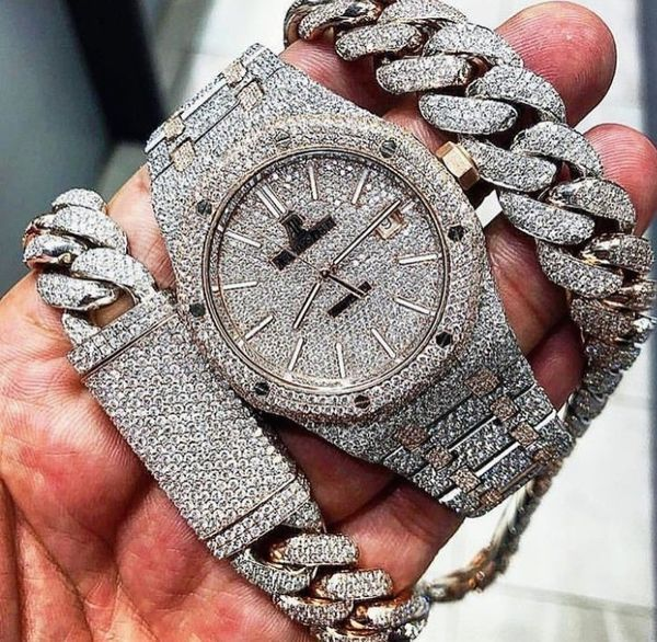 Iced out watch for Sale in Fort Lauderdale, FL in 2020