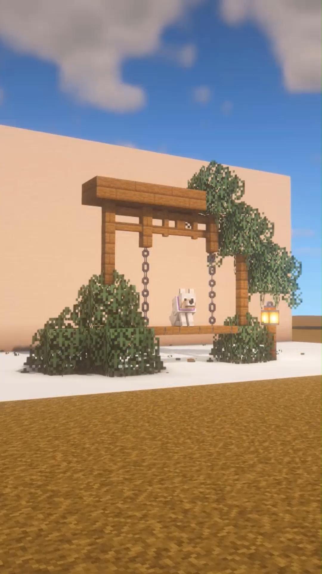 Porch Swing Frame Fairy Garden [ Minecraft Timelapse ]