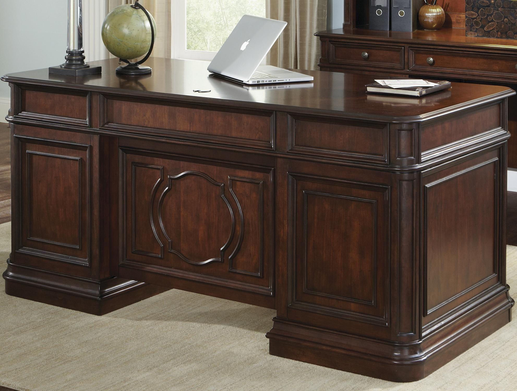 Brayton Manor Jr Executive Traditional Executive Desk With 5