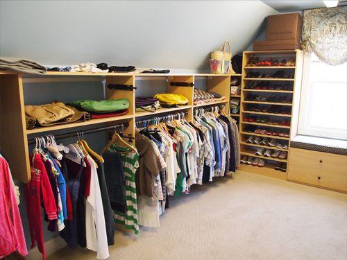Slopped closet design for the farm Pinterest Closet designs