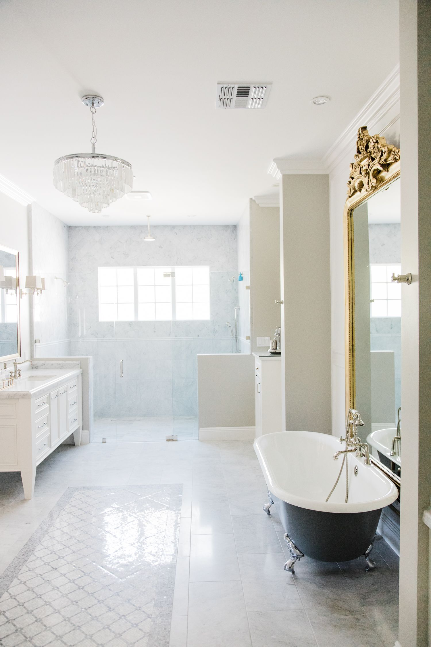 Custom master bathroom designed and built by Rafterhouse. Located in ...