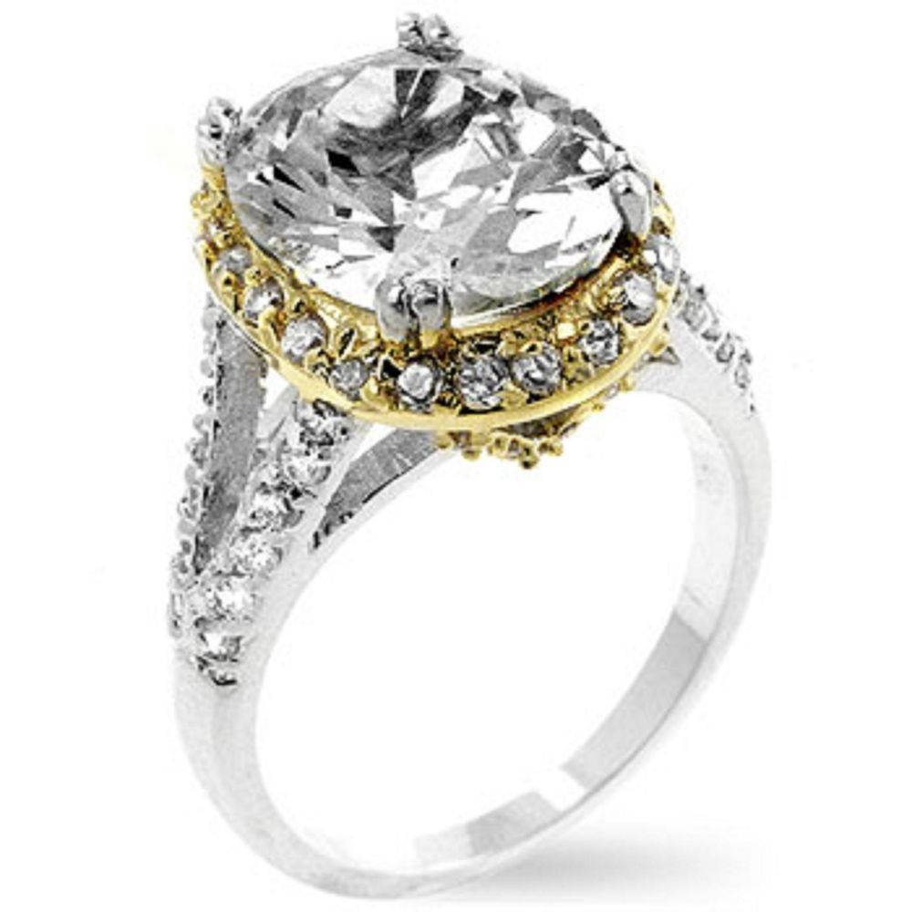 Coronation Ring Solitaire Engagement Cubic Zirconia Clear All Sizes 14k White Go Solit Oval Diamond Engagement Ring Royal Engagement Rings Small Wedding Rings