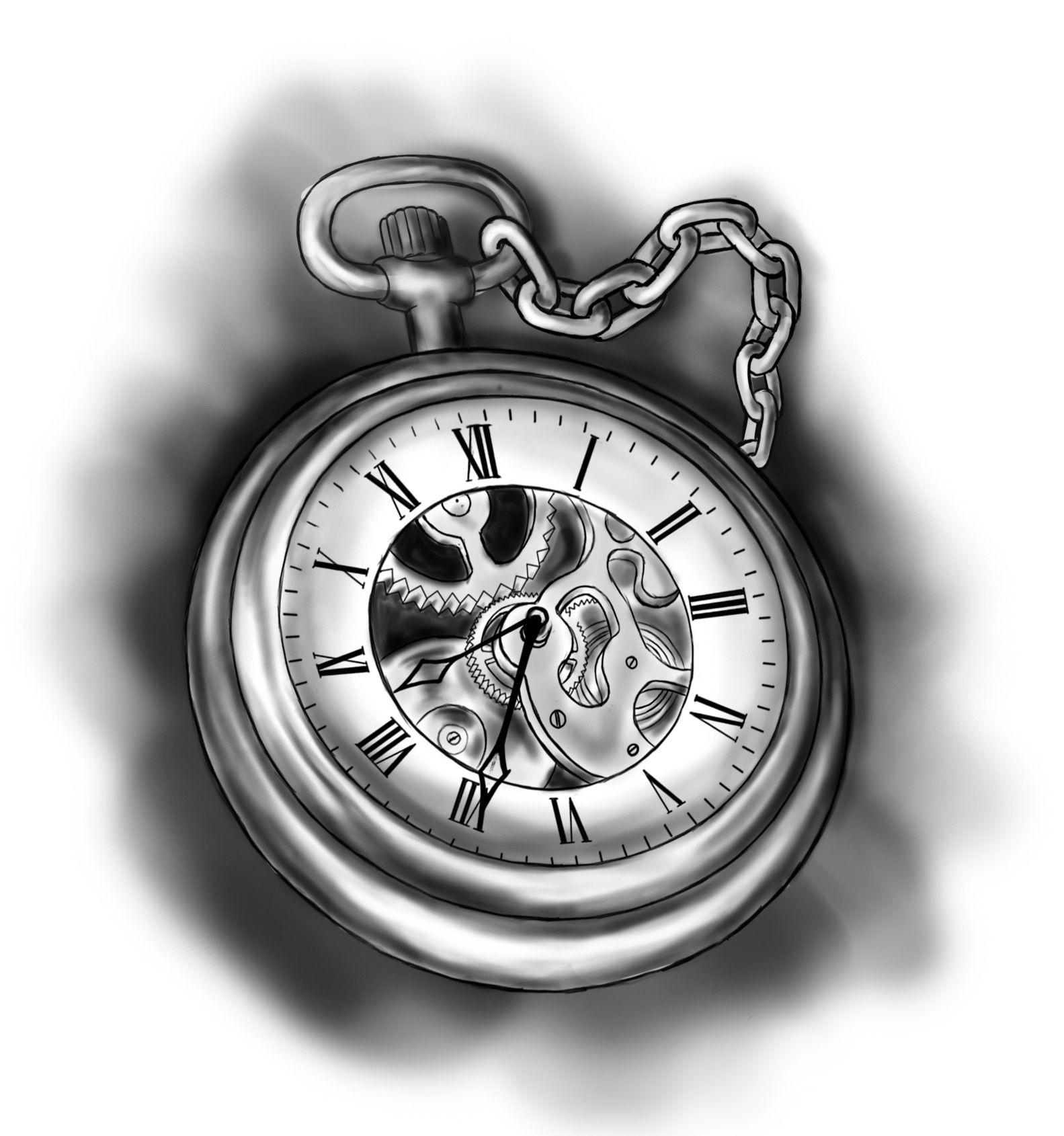 Artwork tattoo designs free tattoo website template best tattoo - Pocket Watch Drawing Www Galleryhip Com The Hippest Pics