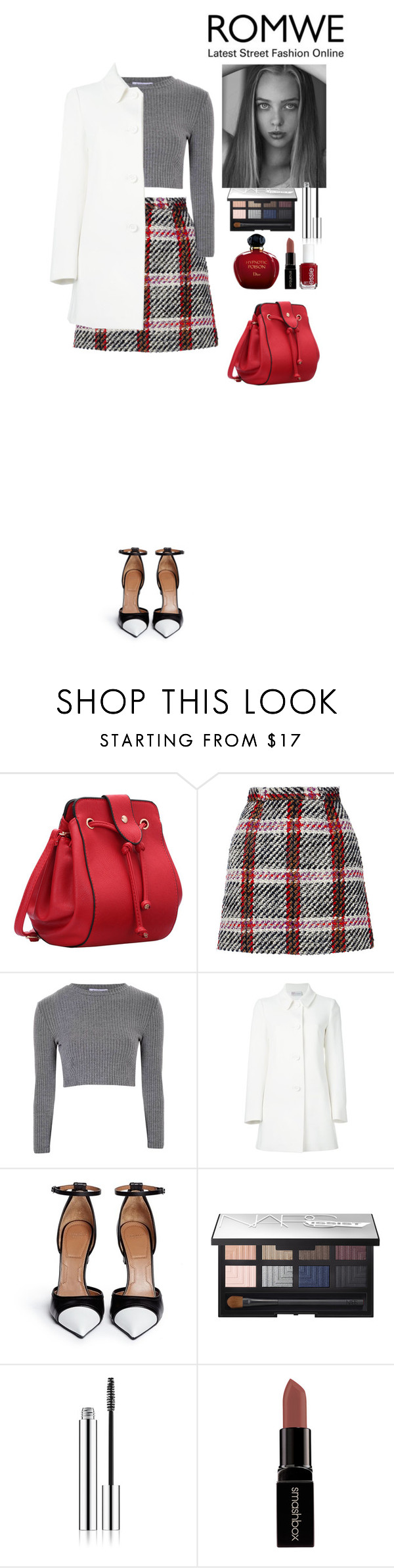 """""""Romwe contest"""" by eliza-redkina ❤ liked on Polyvore featuring Carven, Glamorous, RED Valentino, Givenchy, NARS Cosmetics, Essie, Smashbox, Christian Dior, StreetStyle and outfit"""
