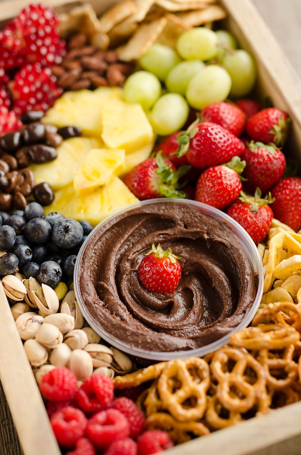 Healthy Fruit & Chocolate Party Tray is a fantastic