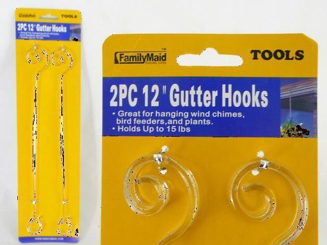 2 Pcs 12 Inch Gutter Hook Hanger For Plants Bird Feeder Wind Chime Free Ship Wind Chimes Bird Feeders Chimes