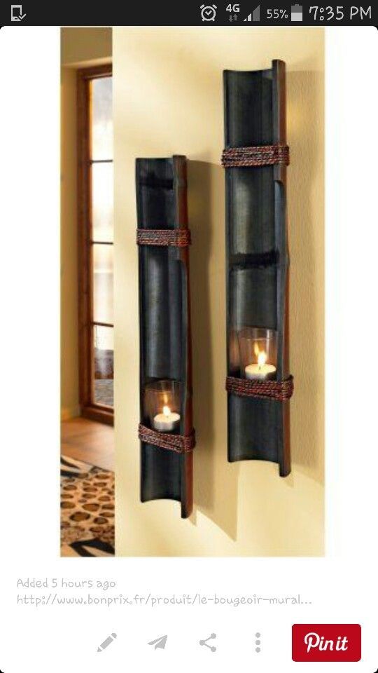Beautiful Candle Holders Bamboo Art Bamboo Ideas Bamboo Poles Bamboo Light Bamboo