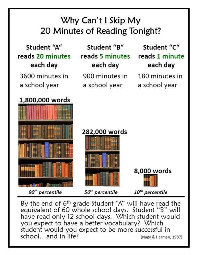 Image result for 20 minutes of reading a day