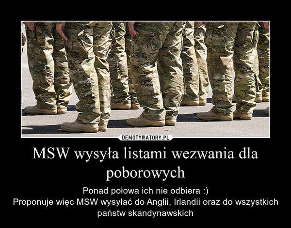 MSW wysyła listami wezwania dla poborowych