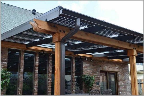 Solar Panels Patio Cover