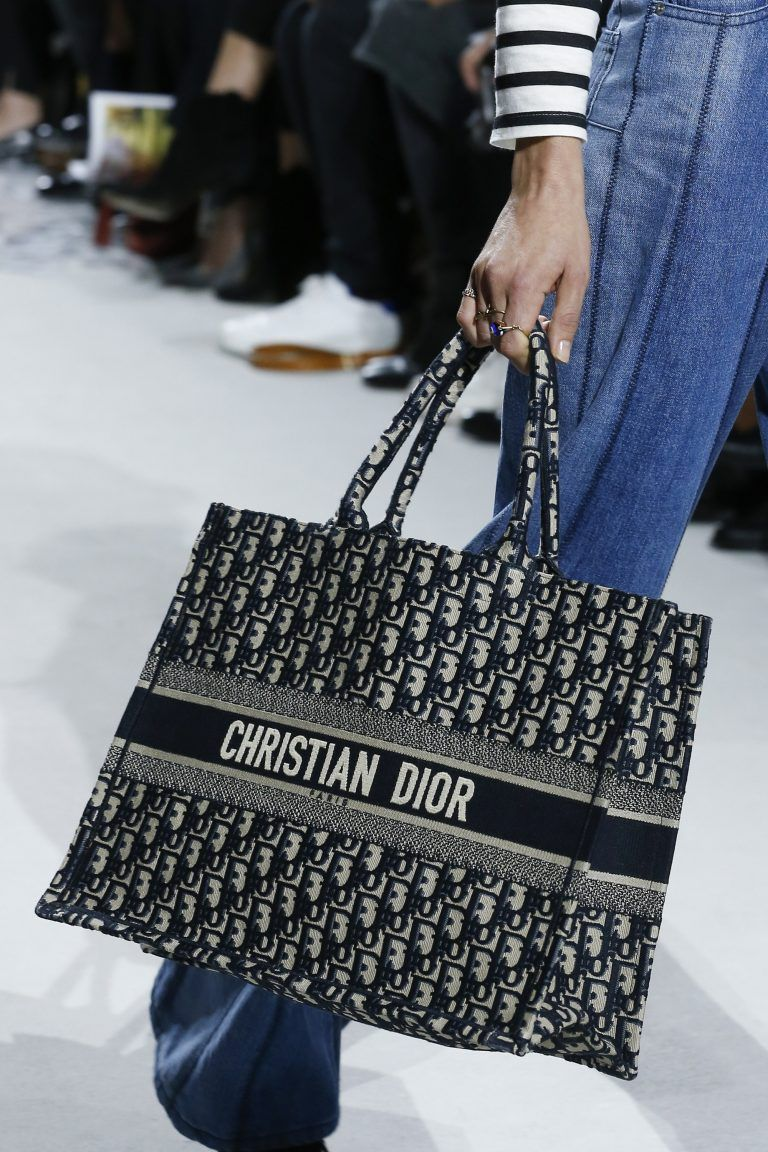 Dior Blue Dior Oblique Canvas Tote Bag Spring 2018