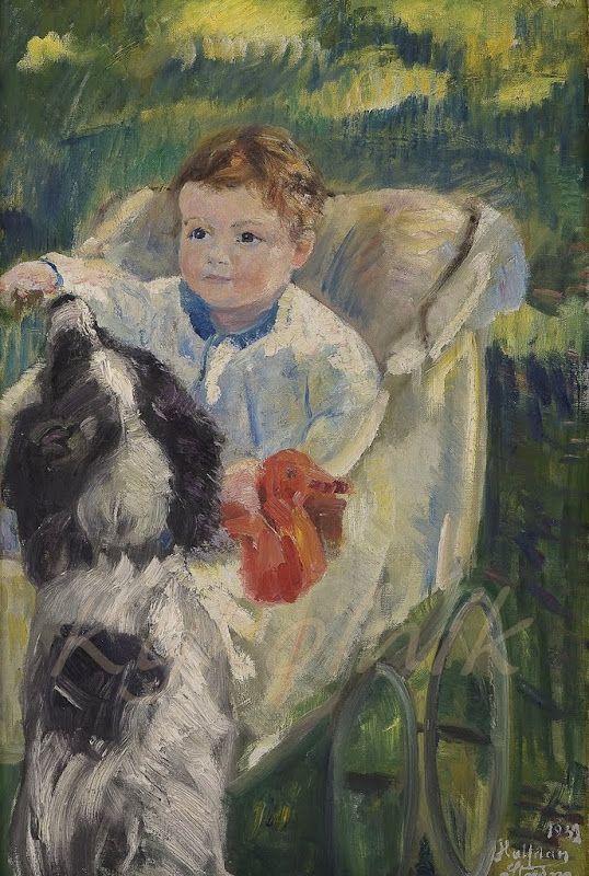 Strøm, Halfdan (1863-1949) «Barnebarn» 1932