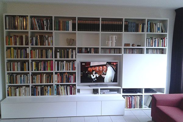 TV kast op maat met schuifdeuren opbergmeubel met klep en deuren