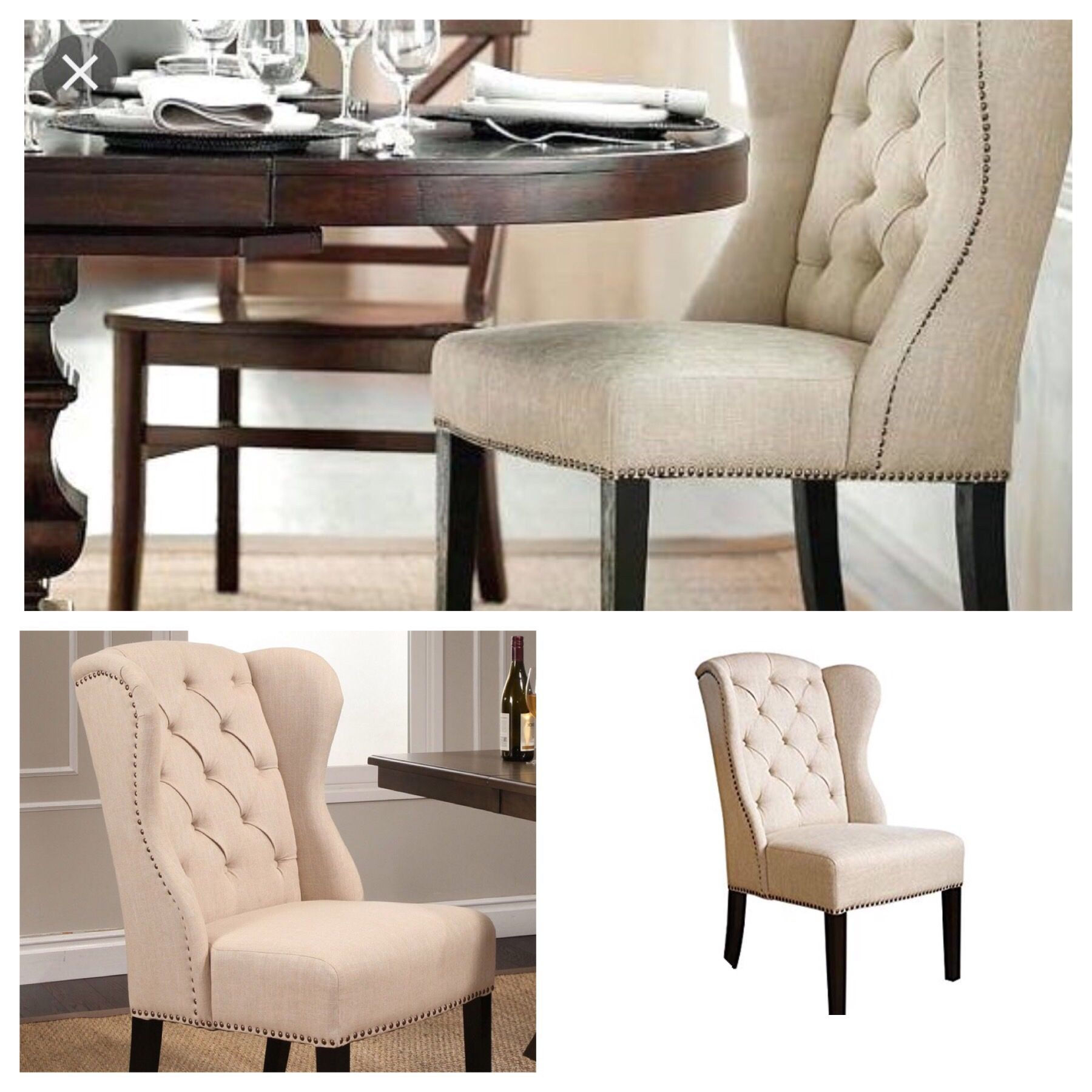 Tufted Wingback Chair Wingback Dining Chair Abbyson Living Tufted Dining Chairs