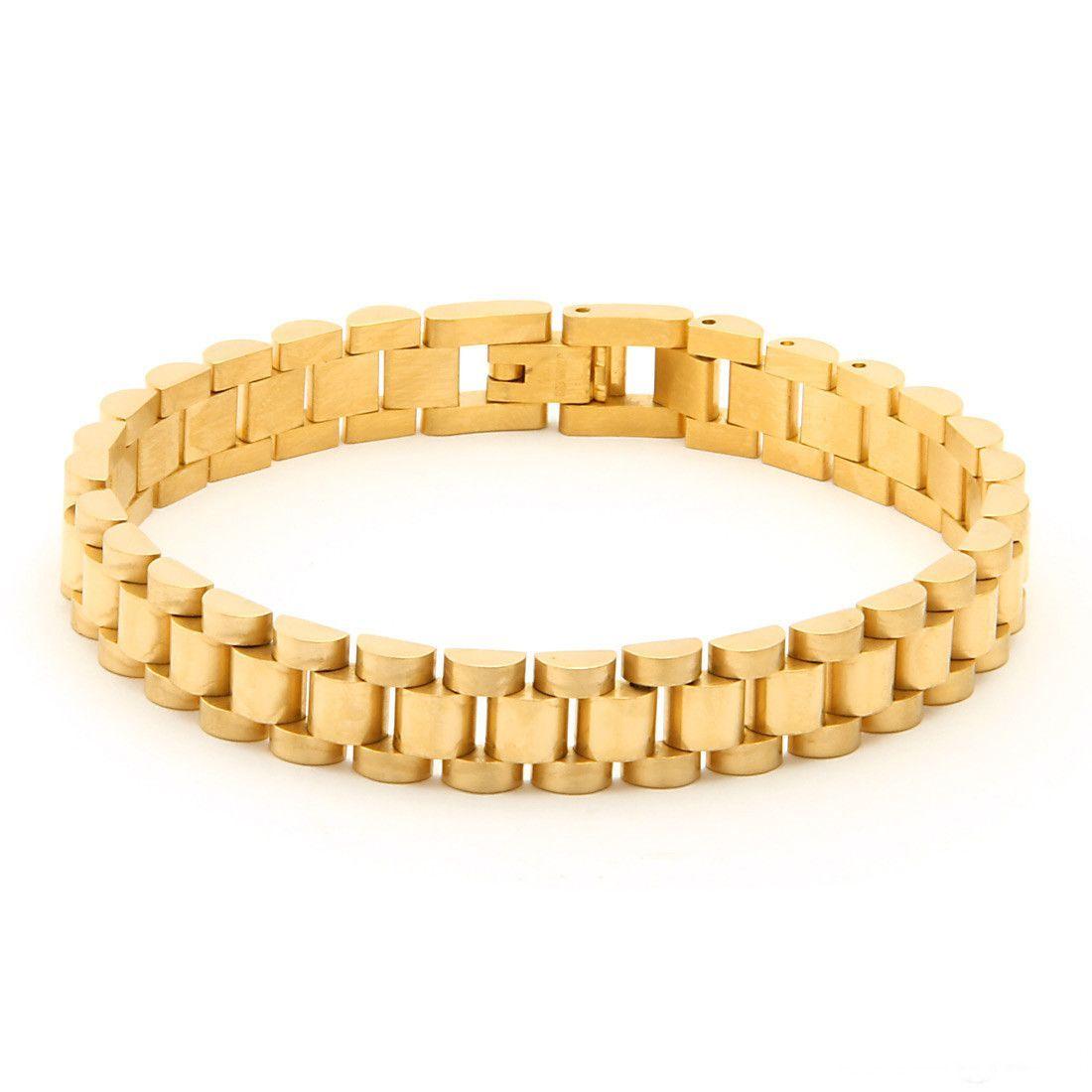 The k gold mm rolex watch link stainless steel bracelet