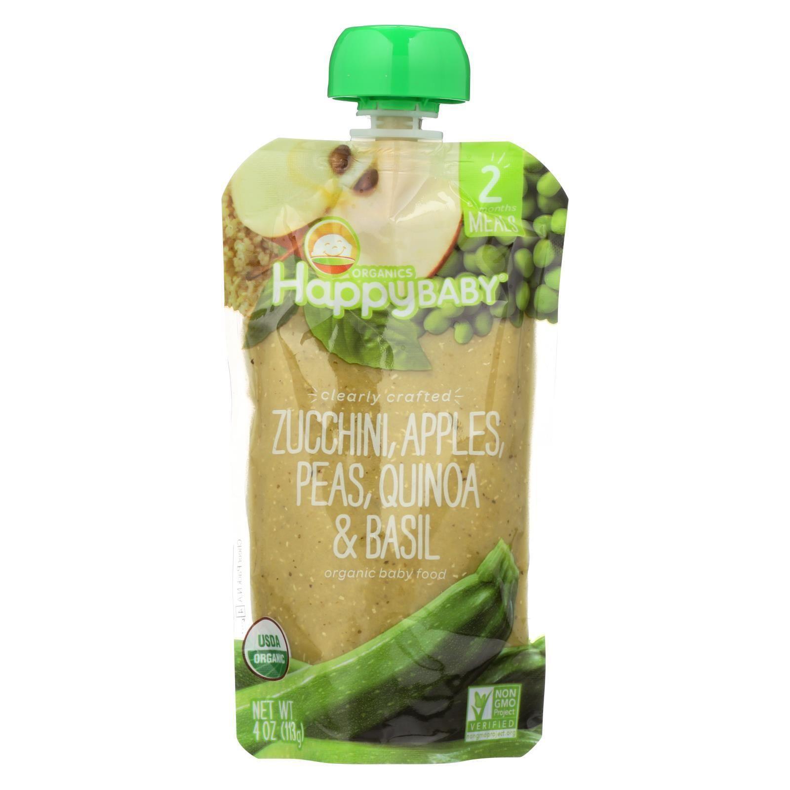 Happy baby organic baby food zucchini peas quinoa