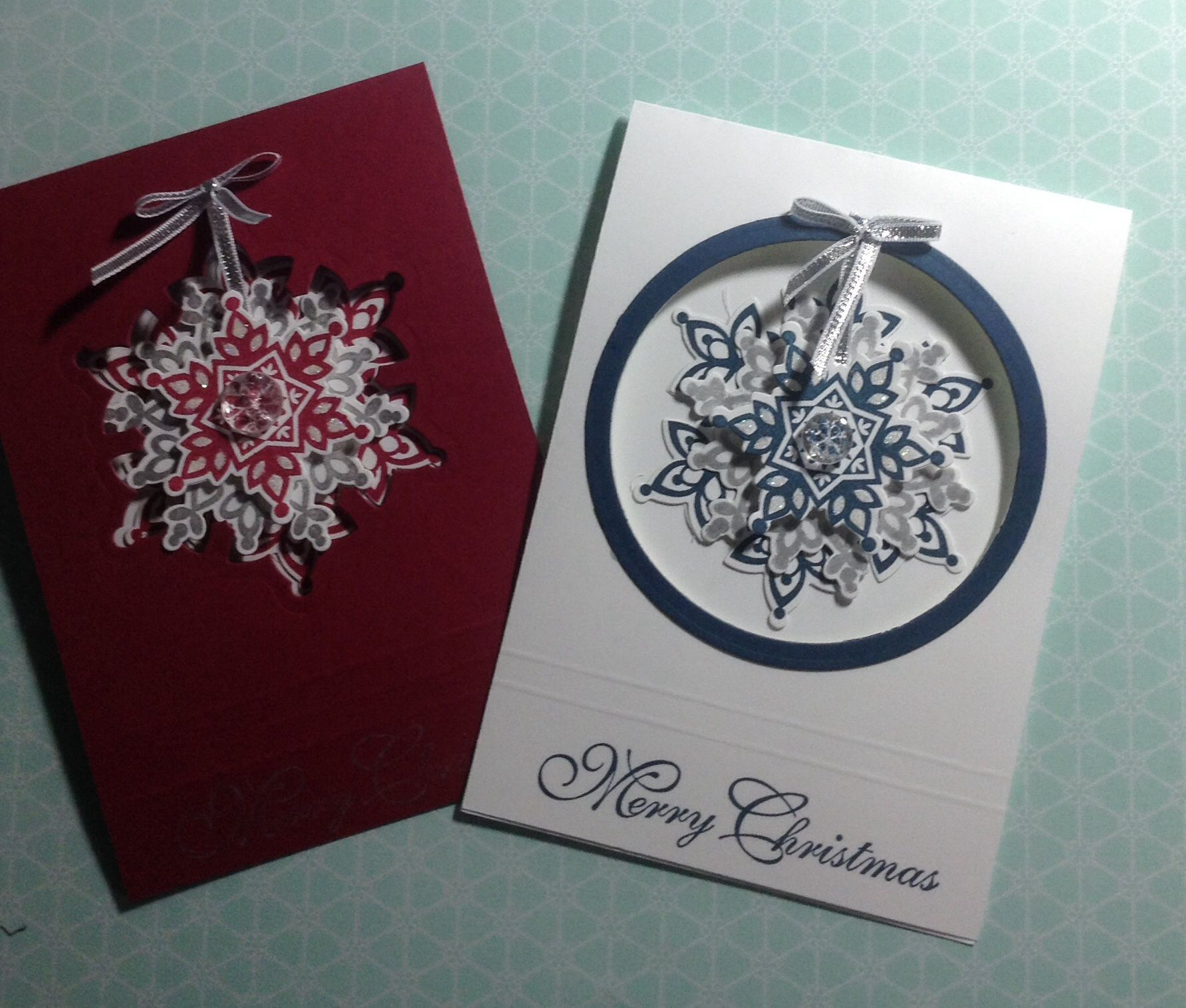 Examples Of Christmas Cards To Make: Card Examples Using #stampinup Festive Flurry