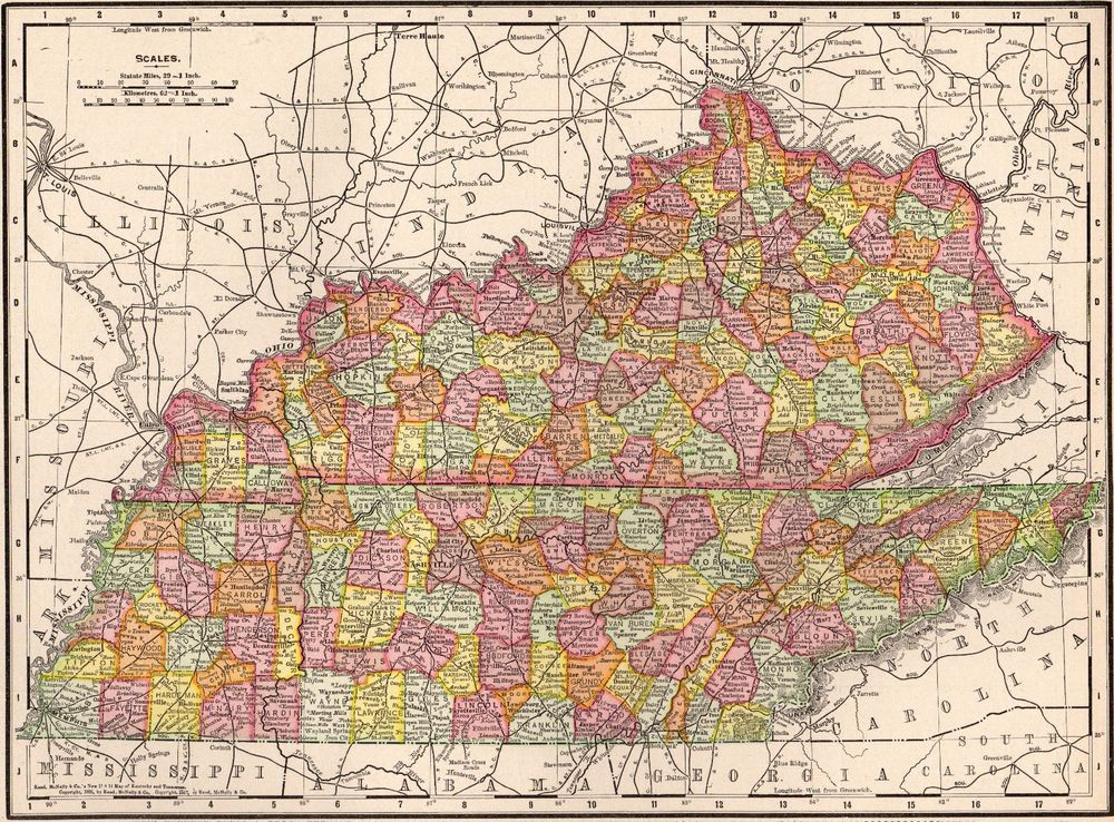 1908 Antique KENTUCKY & TENNESSEE MAP Original State Map of Kentucky on northeastern tennessee map, wears valley tennessee map, paducah tennessee map, south carolina tennessee map, london tennessee map, new mexico tennessee map, whites creek tennessee map, dallas tennessee map, portland tennessee map, tennessee county map, dyersville tennessee map, austin tennessee map, wyoming tennessee map, tennessee state map, beech grove tennessee map, bryson city tennessee map, belle meade tennessee map, somerset tennessee map, mayfield tennessee map, marion tennessee map,