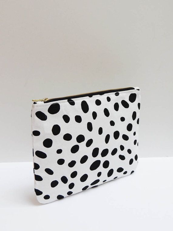Clutch Purse in Dalmatian Print Tablet or iPad by agapeandhesed