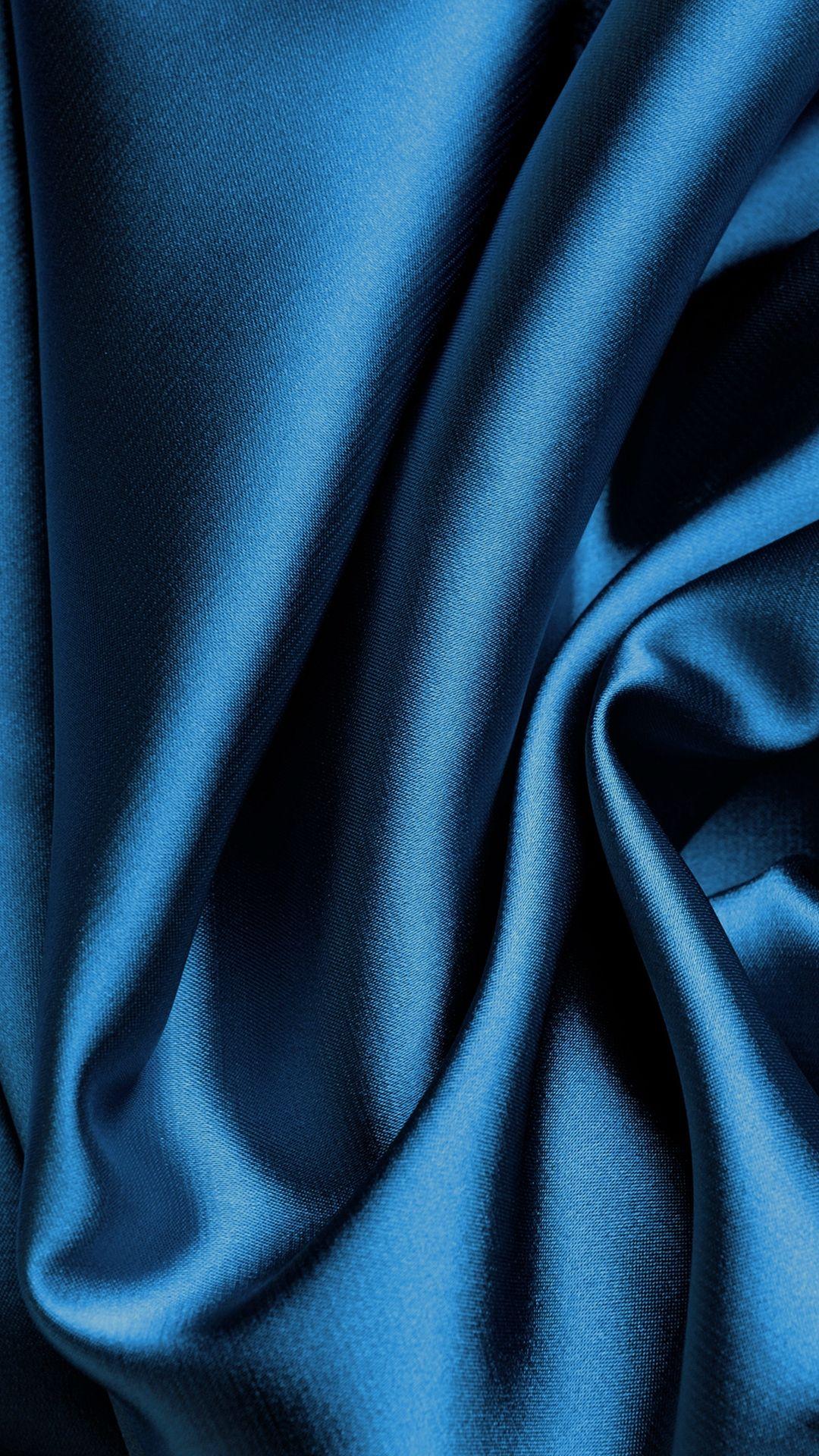 Blue Silk Fabric Texture iPhone 8 Wallpapers Textured