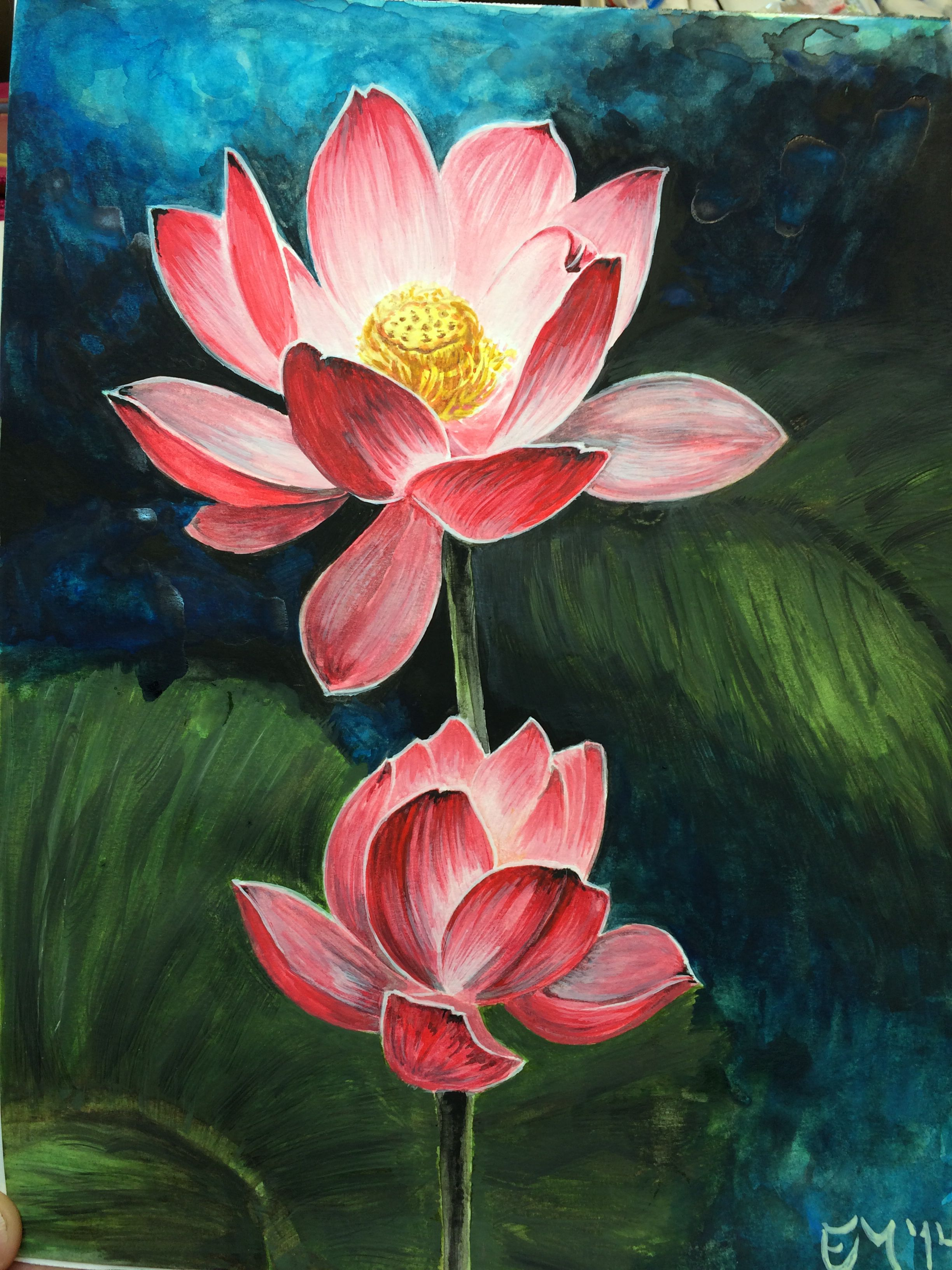 Elliot masker. Water color, lotus. Follow me on instagram and fcbk ...