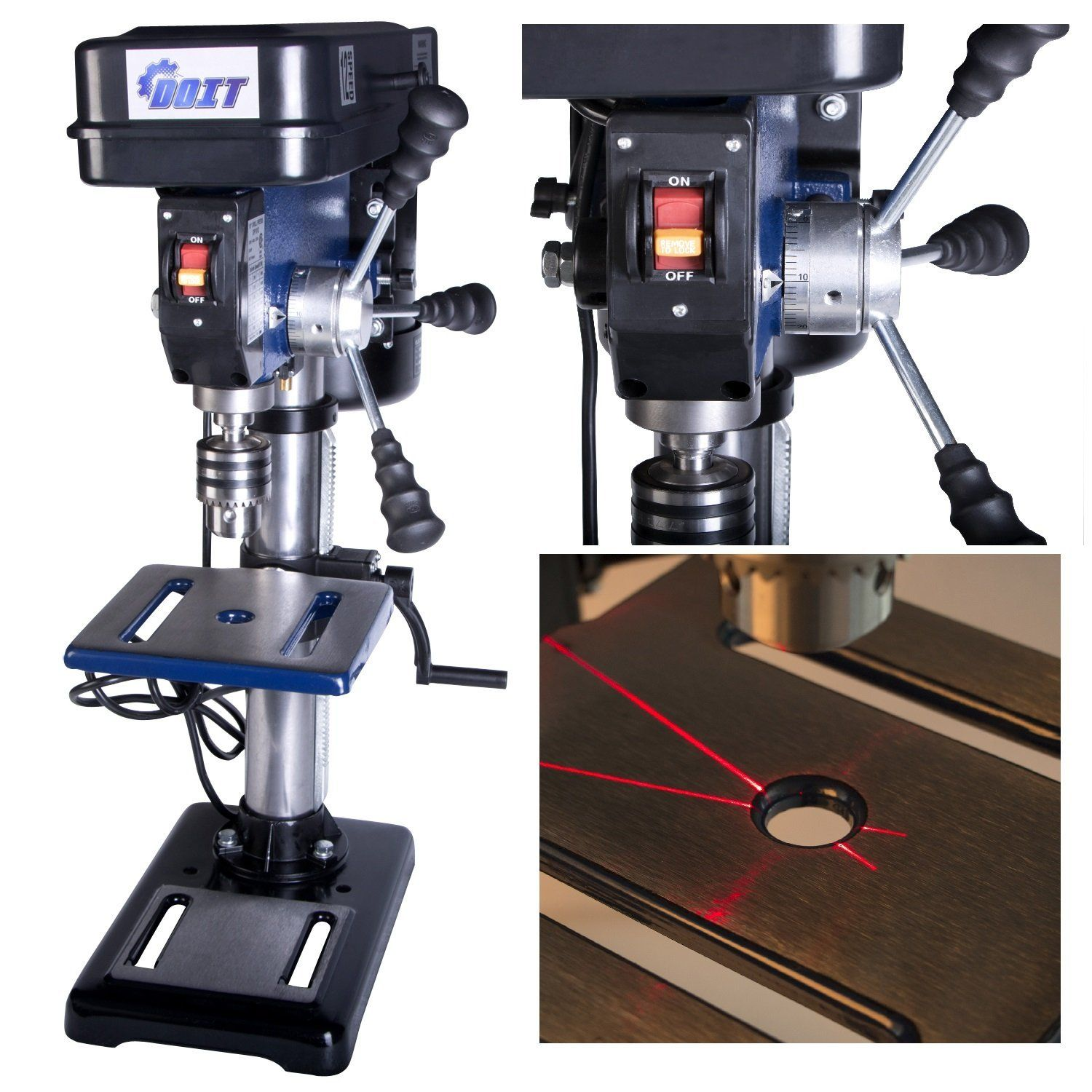 Doitpower 10 Inch 12 Speed Drill Press With Laser Trac 10 Inch 12 Speed Drill Press With Laser Drill Press Speed Drills Drill