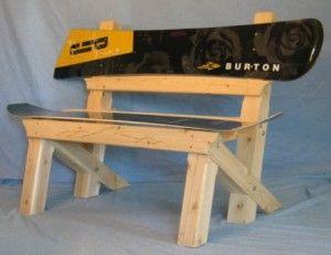 Snowboard Bench Skateboard Furniture Wooden Diy Snowboard