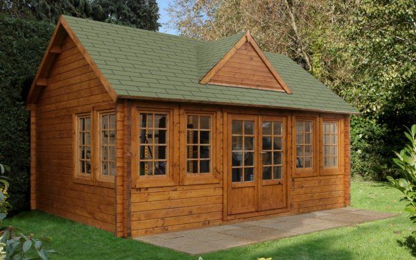 Little Garden Log Cabin Kit For 5 000 Little Log Cabin Garden Log Cabins Log Cabin Kits