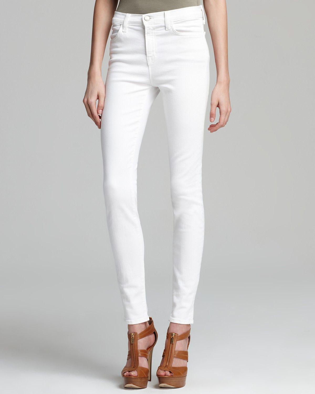 977be6e11ee6 Maria High-Rise Skinny Jeans in Blanc in 2019 | CW white denim ...