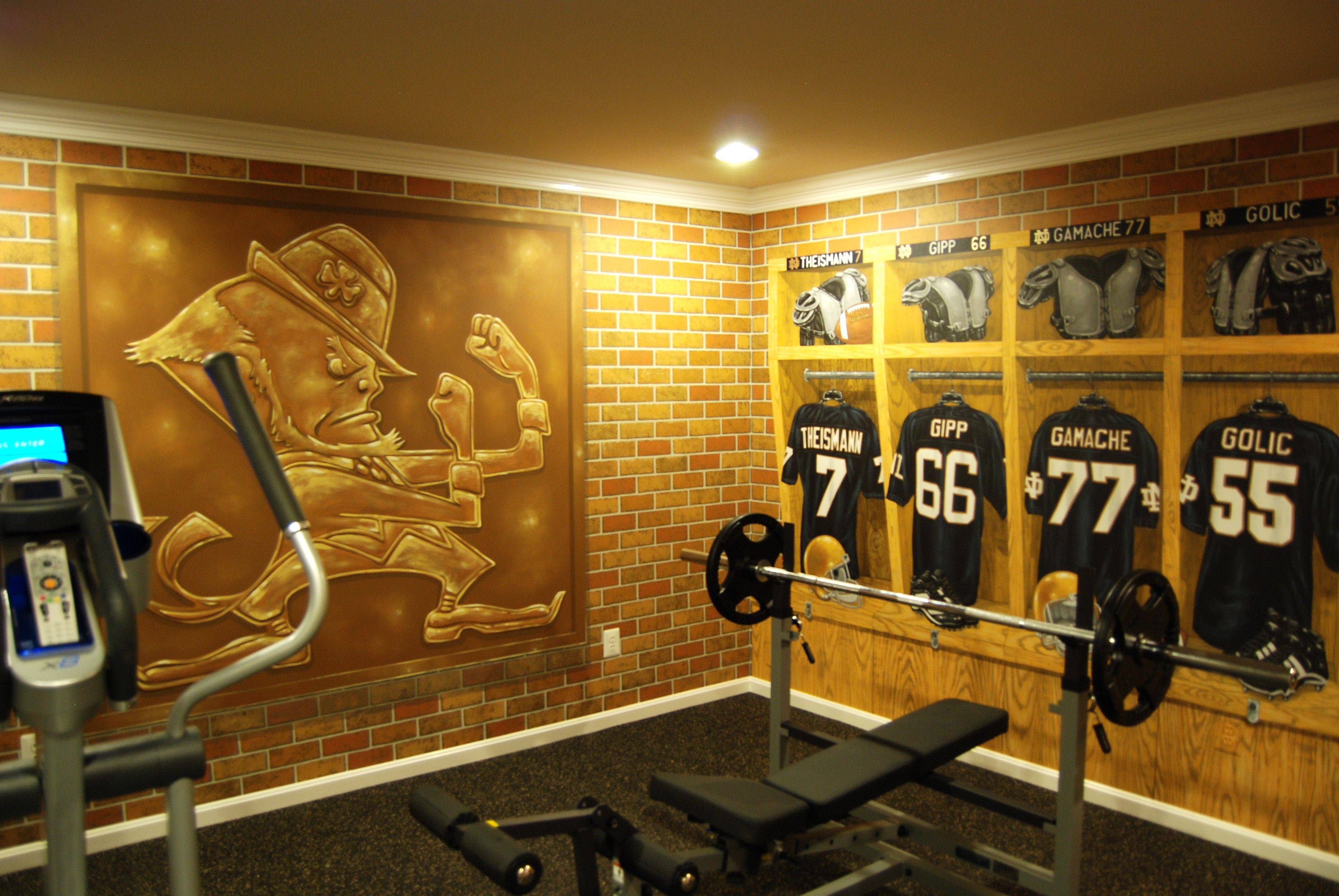 Notre Dame Football Locker Room Mural by Tom Taylor of Wow Effects ...