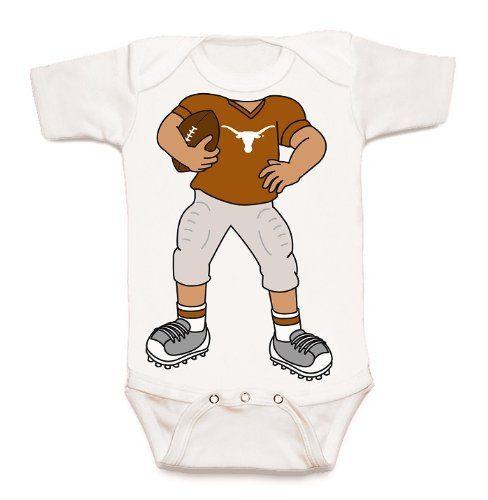 Texas Longhorns Heads Up! Football Baby Onesie (18 months)