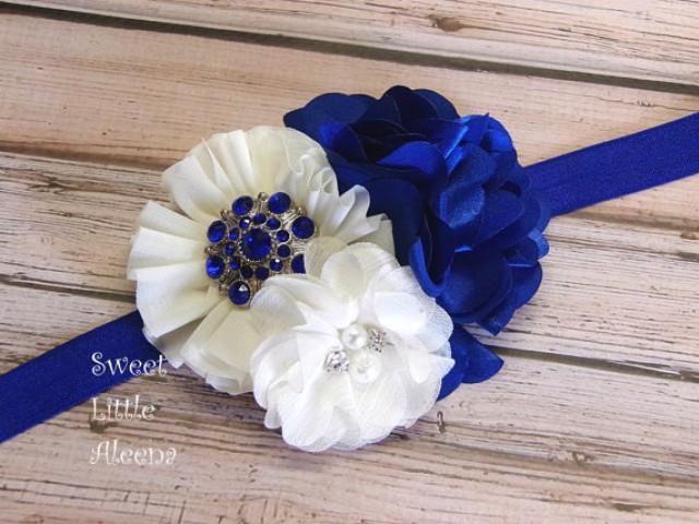 Royal Blue Ivory Headband fece5ebcbda
