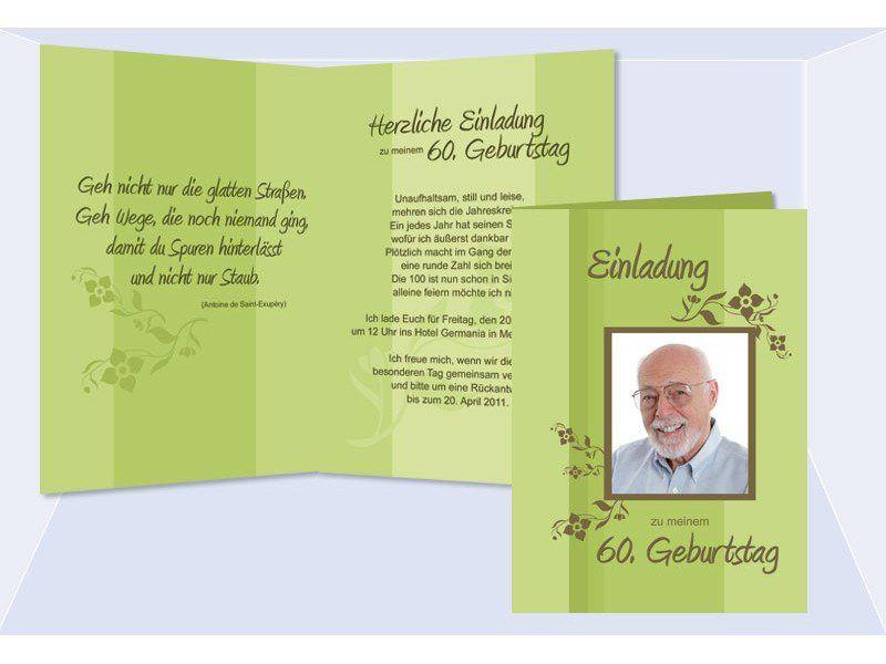 60 Geburtstag Einladung 60 Geburtstag Einladungskarten