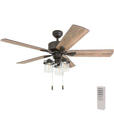 Three Posts 52 Sheyla 5 Blade Ceiling Fan Light Kit Included In