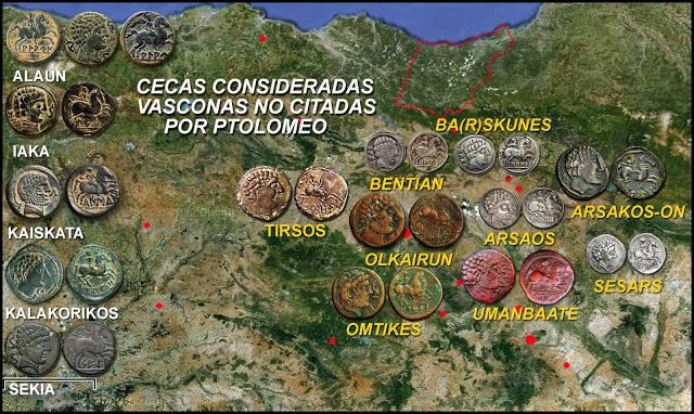 Numisarchives. Ancient Numismatic of Basque Country.. Iberian coins.