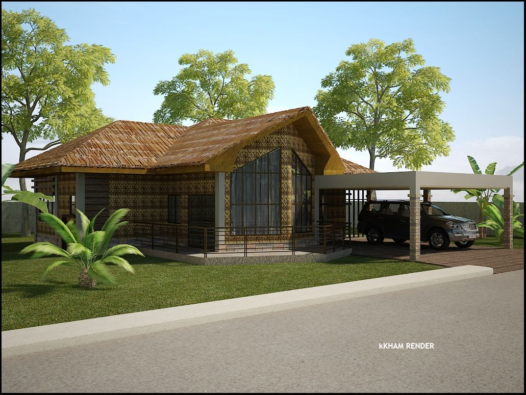 A Simpler Design Option For My Bahay Kubo Home Houses Pinterest