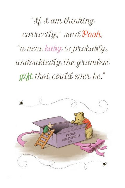 New Baby Quote Winnie the Pooh – Winnie the Pooh Birth Announcements