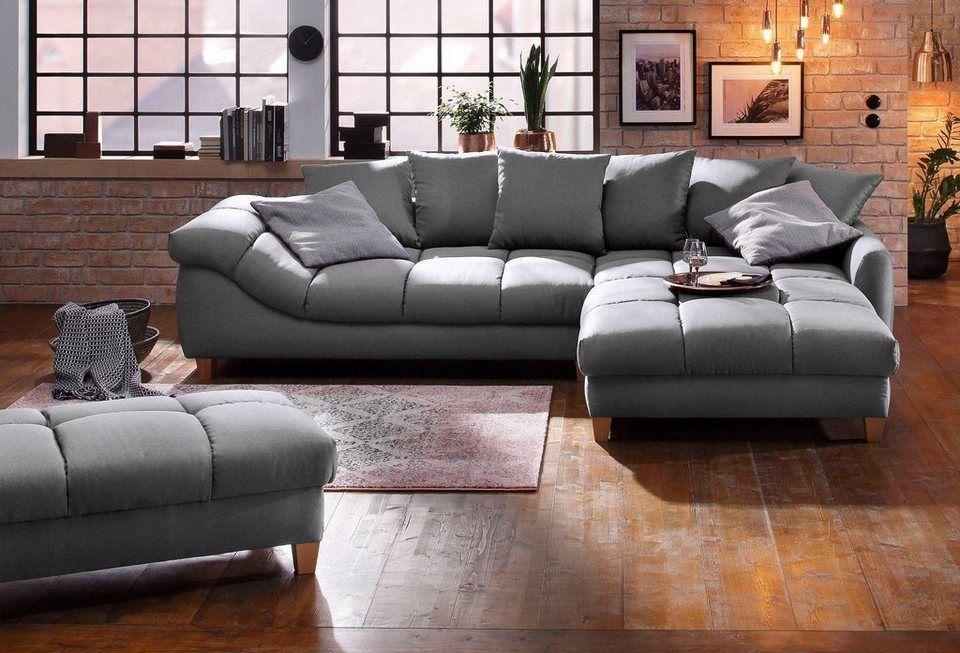 Home Affaire Ecksofa Italia Mit Bettfunktion Wahlweise Mit Beistelltisch Und Federkernpolsterung Online Kaufen Otto Ecksofas Moderne Couch Ecksofa