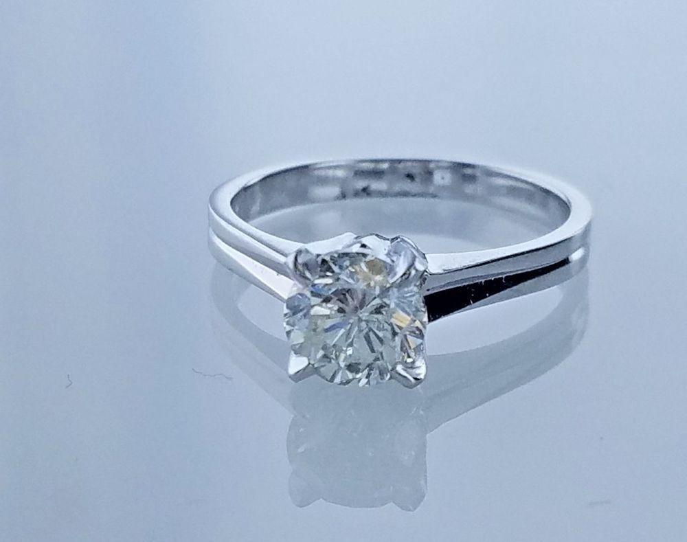 1.01 Carat GIA Grading Solitaire Diamond Antique Engagement Ring K Color I-2 #LionDiamondsGroup #Solitaire