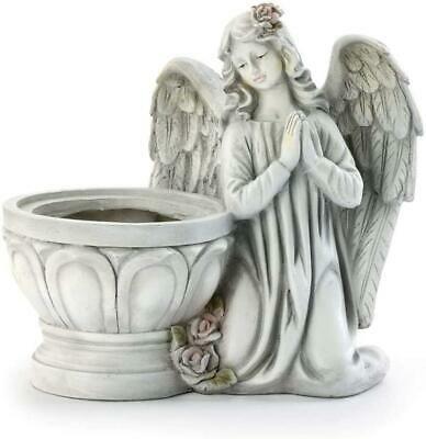 Praying Angel Floral Classic White 4 X 4 Resin Stone Basin Standing Planter #fashion #home #garden #homedcor #sculpturesfigurines (ebay link)