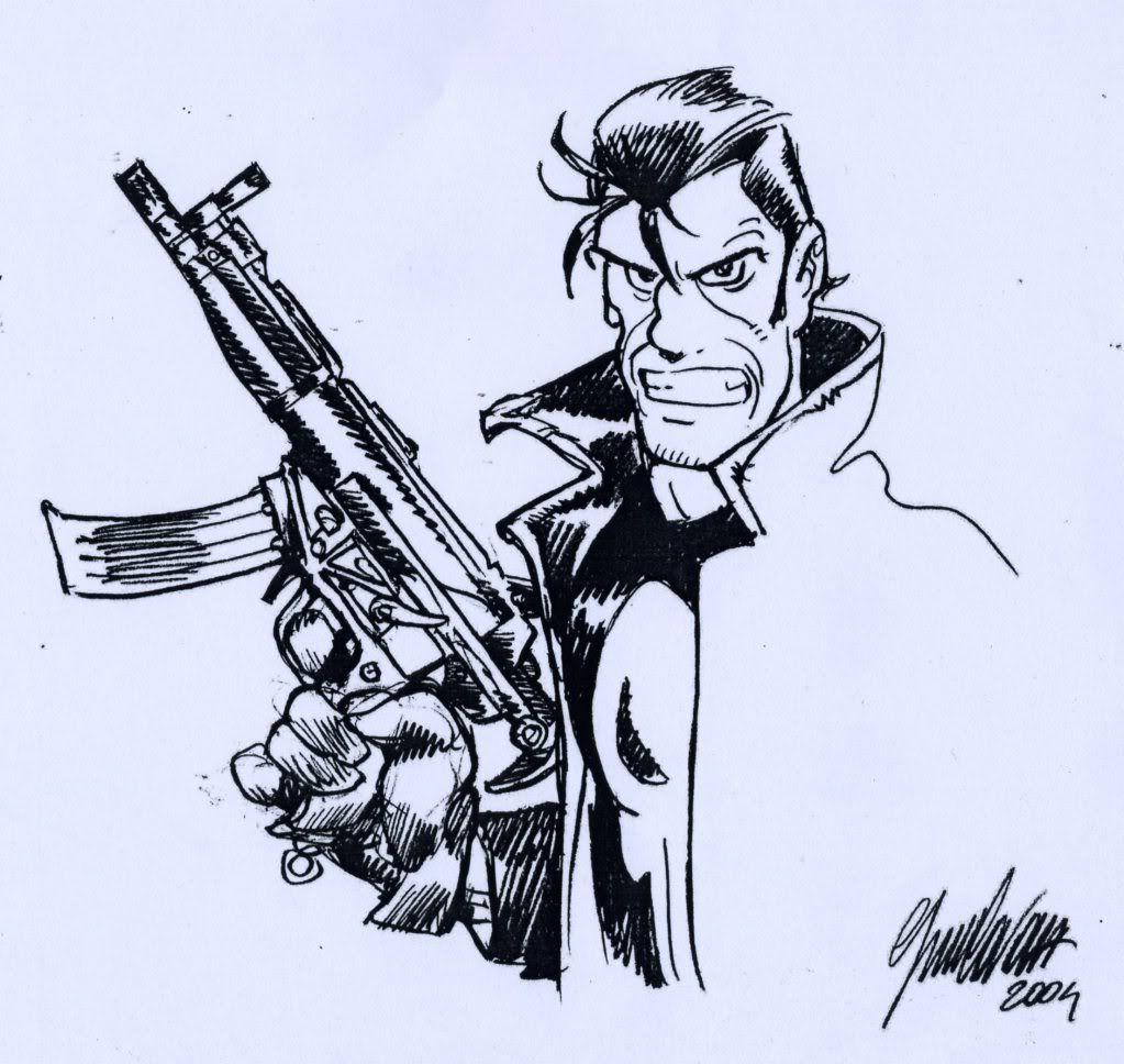Alan ford gruppo t n t ubc enciclopedia online del fumetto - The Punisher By Giorgio Cavazzano