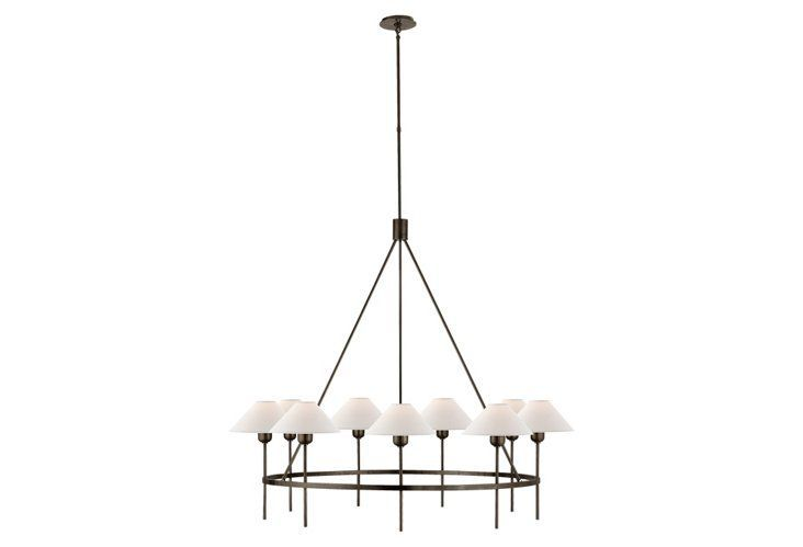 Designed By J Randall Powers The Crisp Clean Lines Of This Chandelier S Brass