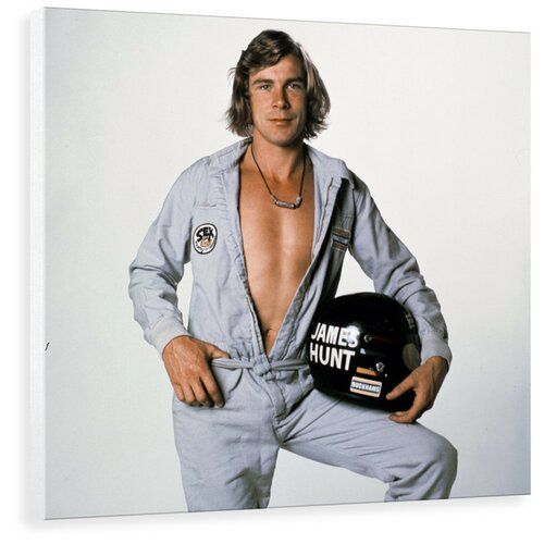Photo of George Oliver mural Racing Driver James Hunt by Arthur Sidey in gray | Wayfair.de