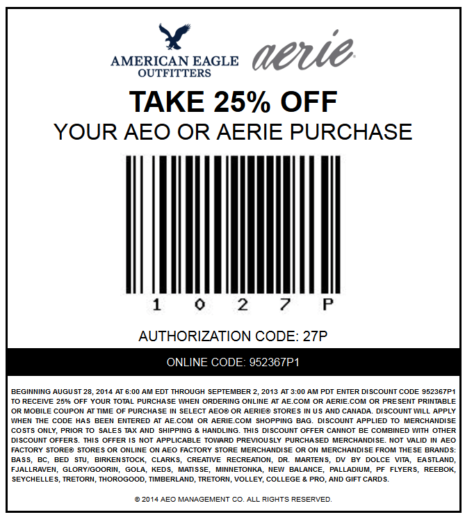 Coupon code american eagle