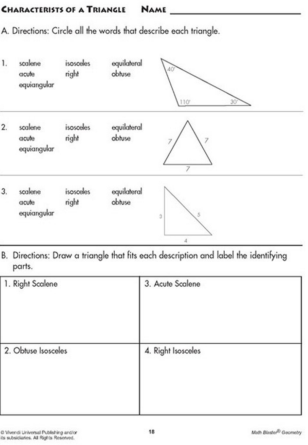 Discover The Characteristics Of A Triangle In Words And In