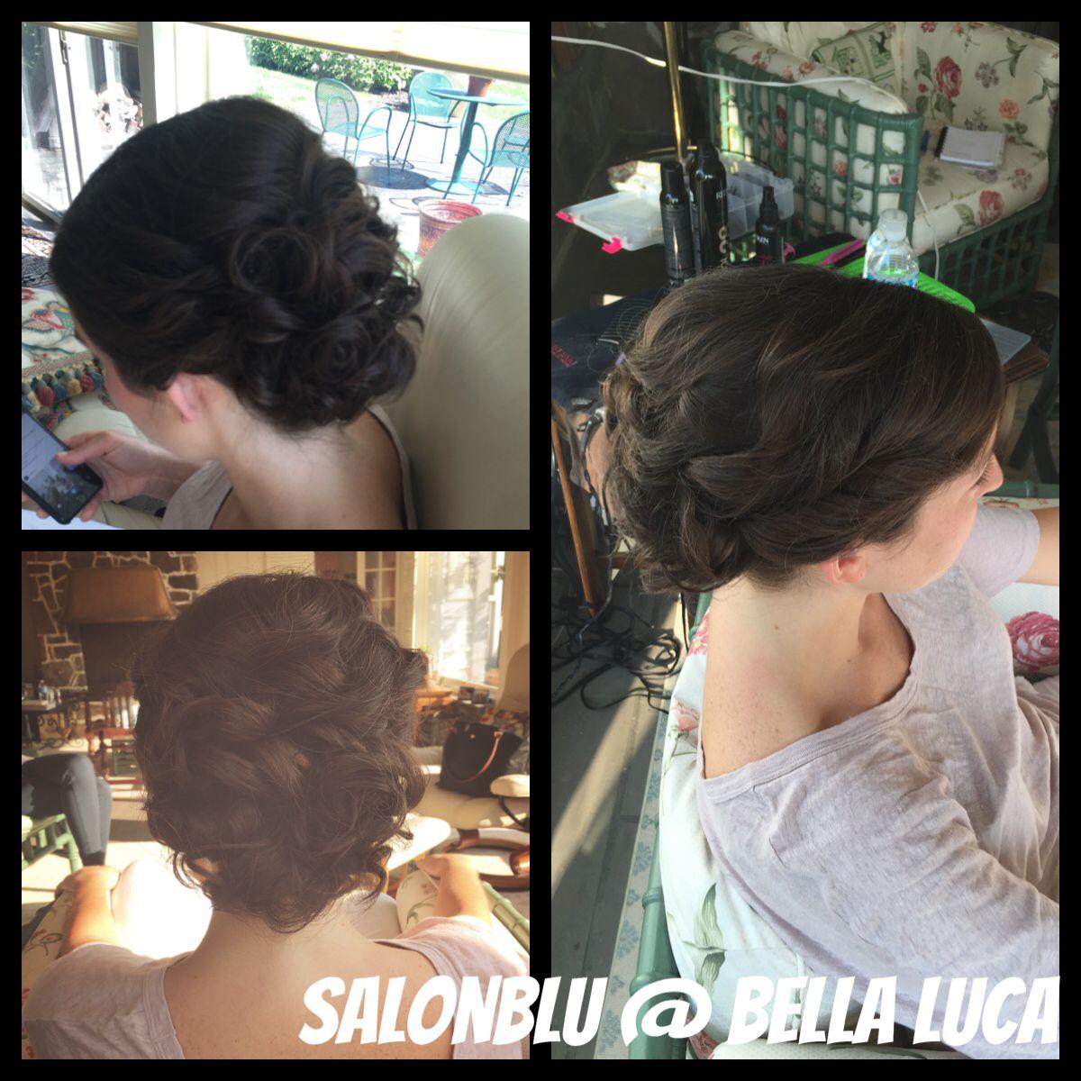 Hair by SalonBlu @ Bella Luca Salon #Bridal #BellaBlu4Hair #BellaBluBeauties onsite wedding call and book! Hair by Kaitlyn Mae